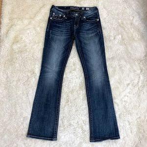 MISS ME Flap Pocket BootCut Jeans Size 28 JE5414BL